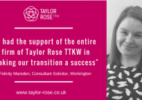 Taylor Rose TTKW's Cumbria office celebrates Fourth Anniversary with our Consultants Programme