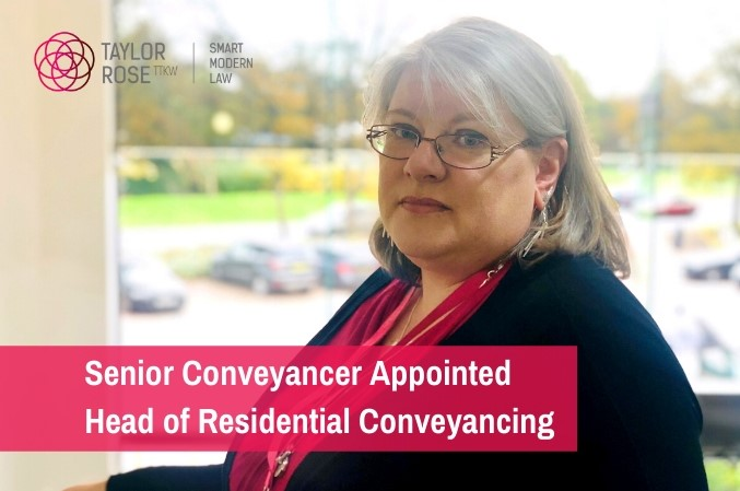 Taylor Rose TTKW Promotes Senior Conveyancer To Top Position