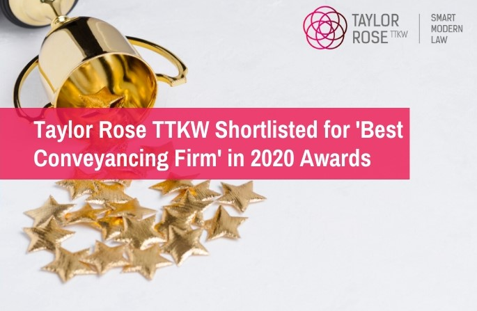 Taylor Rose TTKW Shortlisted for 'Best Conveyancing Firm'