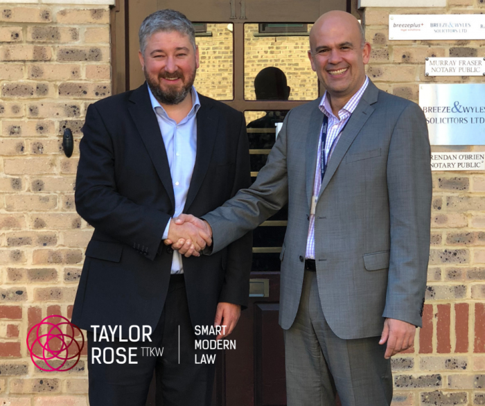 Taylor Rose TTKW merges with Breeze & Wyles Solicitors