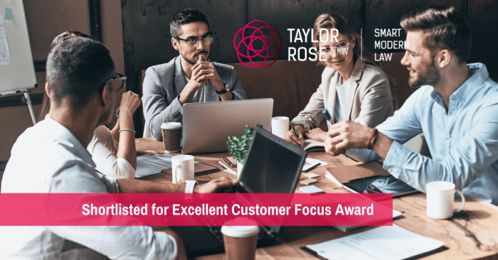 Shortlisted for Excellent Customer Focus Award