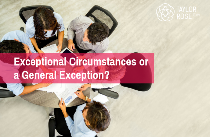 Emerging issues in costs: exceptional circumstances or a general exception?