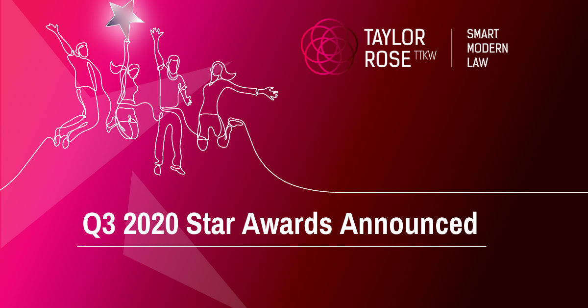 Q3 2020 Star Awards Announced