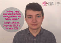 Joseph Johnson, Taylor Rose TTKW's Corporate Star of the Year shares his Award Story