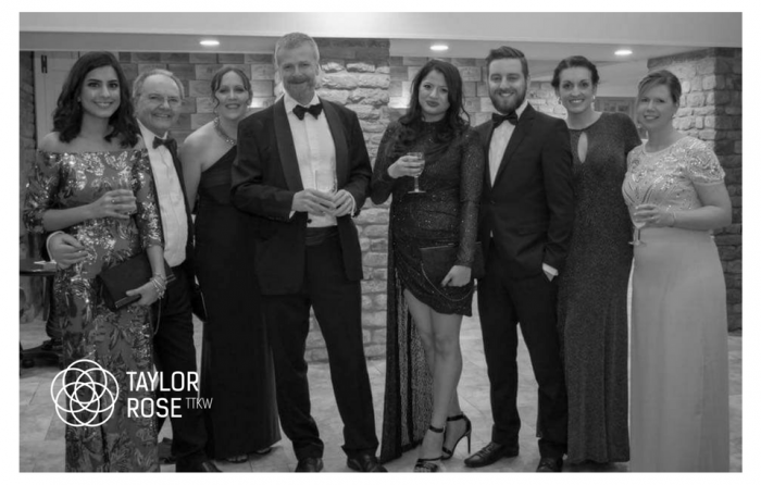 Team Taylor Rose TTKW get their glad rags on for the Peterborough & District Law Society 88th Annual Dinner