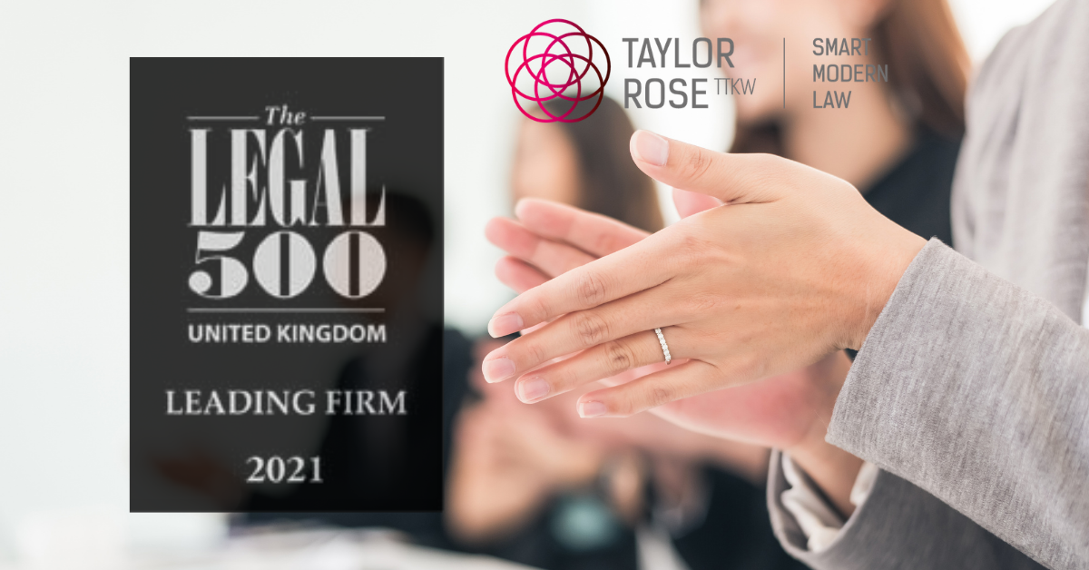 Taylor Rose TTKW & MW Solicitors praised in The Legal 500 2021